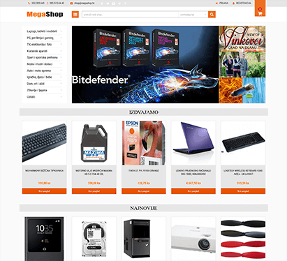 MegaShop Web Shop